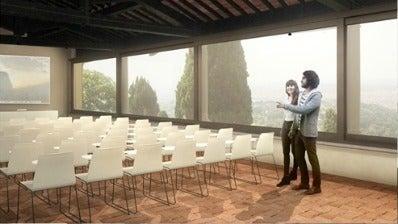Rendering of the future enclosed loggia.