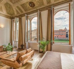 Interior of a hotel room from the Alfieri Collezione.